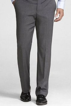 Shop men's full suits, suit jackets and suit pants at Express. Grab a matching blazer and slacks or shop separates in extra slim, slim and classic fits in black, navy, gray & more. Formal Trousers For Men, Formal Pants, Grey Trousers, Grey Pants Outfit, Mens Dress Pants, Mens Full Suits, Black And White Tuxedo, Men Formal, Well Dressed Men