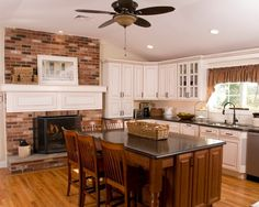 Kitchens With Fireplaces Design, Pictures, Remodel, Decor and Ideas - page 5
