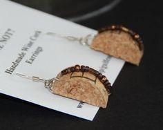 Wine Cork Earrings by GulfCoasters on Etsy