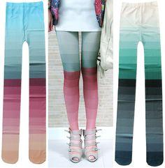 ombre tights (via Modish)