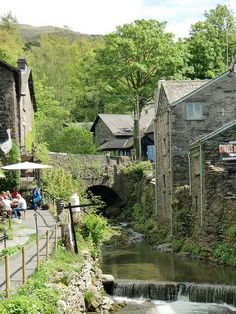 Stock Ghyll river crossing through Ambleside, Cumbria, England (by Phil Masters).