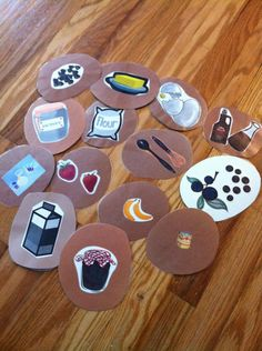 This is an activity I came up with for a pajama day. It works best with a small group. The children were going to help make pancakes and eat them in the classroom. I used shades of brown constru…