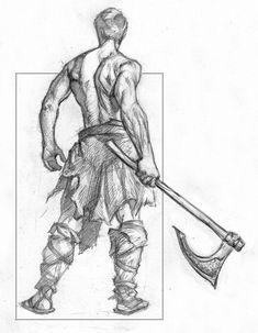 [OC] The back of the barbarian. King Drawing, Human Anatomy Drawing, Warrior Drawing, Human Figure Drawing, Guy Drawing, Anatomy Art, Drawing Poses, Pencil Art Drawings, Art Drawings Sketches