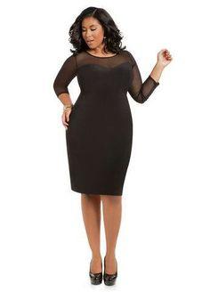 c29e8df985da Ashley Stewart Women s Plus Size Sweetheart Illusion Dress