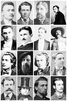 Victorian Men's Hairstyles & Facial Hair A collection of Victorian photographs, depicting some of the hairstyles and facial hair fashion of the time, and a few rather unique hair styles like a man...