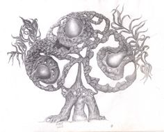 """my drawing artwok .tittled : """"POHON MOHON"""" clip of progression : https://www.youtube.com/watch?v=cwioXKQsSGE"""