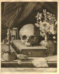 Johann Elias Ridinger (1698 - 1767) - Quid quid agis, prudenter agas et respice finem - Mezzotint c 1760