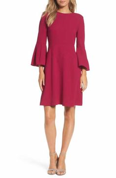 8a3ea5db68 Eliza J Bell Sleeve Fit & Flare Dress Belle Dress, Prom Dresses Online,