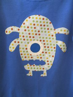 Applique Oneeyed Monster T Shirt or Onesie by ShopMelissa on Etsy, $17.00