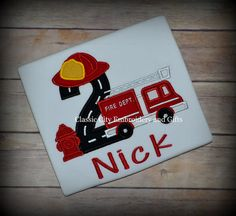 Fire truck birthday shirt fire truck birthday by ClassicCityEmb