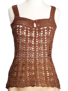 0dfa4744090 Clarice pattern by Kim Guzman. Crochet ShirtCrochet LaceCrochet TopsCrochet  ...
