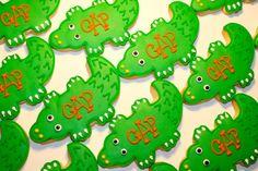 Alligator Birthday Cookies