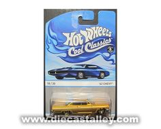 Die Cast Alley - Hot Wheels -1/64 Cool Classics (18 of 30) - 1962 Chevy, Spectrafrost Gold, $2.99 (http://www.diecastalley.com/hot-wheels-1-64-cool-classics-18-of-30-1962-chevy-spectrafrost-gold/)