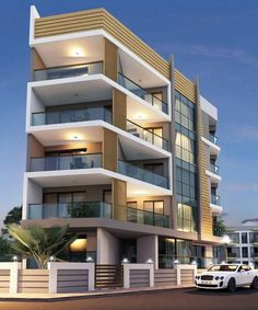 26 Ideas to Modern Architecture Building Apartments - lowesbyte Building Exterior, Building Facade, Building Design, Building Ideas, Building Concept, Facade Architecture, Contemporary Architecture, Drawing Architecture, Appartement Design