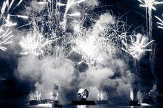 Fireworks at Epcot B&W - Orlando, Florida