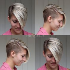 Short side shave - All For Hairstyles Short Shaved Hairstyles, Short Sassy Haircuts, Angled Bob Hairstyles, Short Hair Undercut, Girl Haircuts, Undercut Hairstyles, Cool Hairstyles, Barber Haircuts, Shaved Hair Women