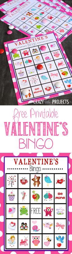 Free Printable Valentine's Bingo Game