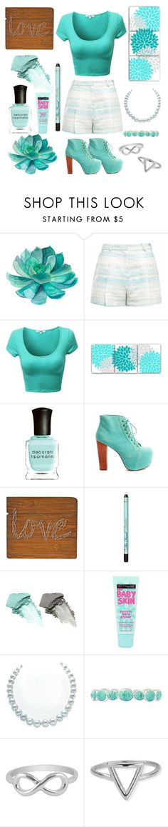 """°•°"" by black4ever ❤ liked on Polyvore featuring Gyunel, Deborah Lippmann, Jeffrey Campbell, Too Faced Cosmetics, Bare Escentuals, Maybelline, Liz Claiborne, Jewel Exclusive and ChloBo"
