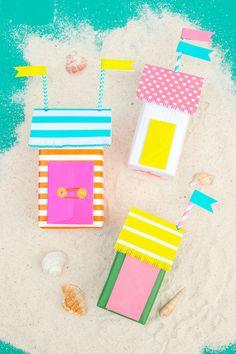 Super Cute Mini Beach Bungalow Gift Wrap