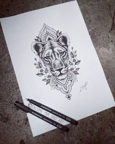 "265 Likes, 10 Comments - Salome Trujillo (@salome_ink_and_art) on Instagram: ""For tomorrow #lioness #liondesign #lionesstattoo #liontattoos #dotworklion #dotworkliontattoo…"""