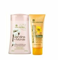 Yves Rocher Jardins du Monde Indian Cotton Flower Shower Cream, 250 ml by Yves Rocher. $27.00. New Original Yves Rocher 2-piece Set: Jardins du Monde Indian Cotton Flower Shower Cream, 250 ml  Rocher Creme Sublimatrice 2 in 1 Mains et Ongles (2 in 1 Beautifuying Hand -Nail Cream), 75 ml  Enriched with Indian Cotton Flower, this Shower Cream immerses you in a pool of softness. Its creamy texture transforms into a rich and silky lather that provides a feeling of well-be...