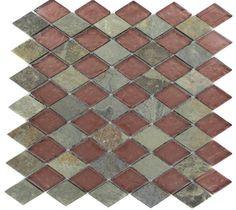 GEOLOGICAL DIAMOND MULTICOLOR SLATE & RUST GLASS TILES 2X3 glass tile - shop glass tiles at glasstilestore.com