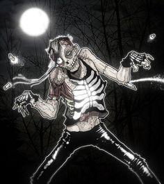 Michale Graves by ~paulorocker  Digital Art Drawings Macabre Horror Misfits Fiend Club http://paulorocker.deviantart.com/