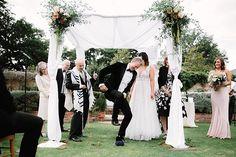 A Romantic English Country Garden Jew-ish Wedding at Northbrook Park, Surrey, UK - Smashing the Glass Wedding Arrangements, Flower Arrangements, Birch Chuppah, Wedding Blog, Our Wedding, English Country Gardens, Luxury Flowers, Bridesmaid Dresses, Wedding Dresses