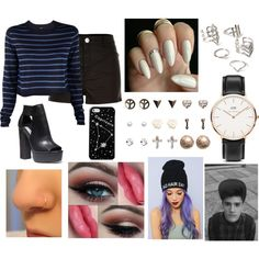 Date with the BF by amazing-world-of-teen-wolf on Polyvore featuring TIBI, River Island, Steve Madden, Wet Seal, Forever 21, Kate Spade Saturday and Daniel Wellington