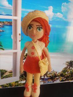 Hand Crochet, Crochet Hats, Custom Dolls, Amigurumi Doll, Art Dolls, Wool, Disney Princess, Knitting, Disney Characters