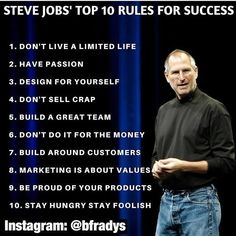 Business quotes marketing: Top 10 Tips for Success - Steve Jobs. Motivational Quotes For Entrepreneurs, Motivational Quotes For Success, Entrepreneur Quotes, Positive Quotes, Inspirational Quotes, Life Quotes Love, Wisdom Quotes, Quotes To Live By, Quotes Quotes