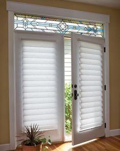 Etonnant Hunter Douglas Vignette® Tiered™ Modern Roman Shades Closed #Hunter_Douglas  #Vignette_Shades #Window_Treatments. French Door ...