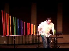 """""""Heart and Soul"""" - David Harsh - using boomwhackers and looping technology.  Music vocab: melody, treble, bass, octave, accompaniment."""