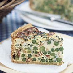 This pea and mint quiche is delicious served alongside a crisp leaf salad. http://www.waitrose.com/content/waitrose/en/home/recipes/recipe_directory/p/pea_and_mint_quiche.html
