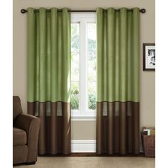 Great Canopy Lined Color Band Grommet   Top Energy Efficient Curtain Panels In  Green Tree/. Green Living RoomsLiving Room ... Part 19