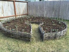 Wattle fence raised bed garden beds …