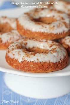 Gingerbread Baked Donuts with Gingersnap Icing!