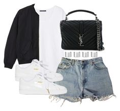 """""""Untitled #4067"""" by theeuropeancloset on Polyvore featuring Violeta by Mango, Levi's, Monki, Puma, Yves Saint Laurent and Maison Margiela"""