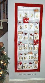 diy advent calendar from a shoe organizer, christmas decorations, crafts, repurposing upcycling, seasonal holiday decor