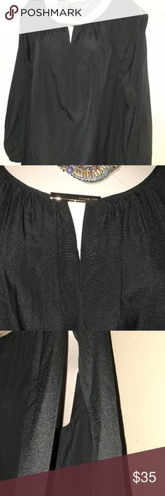 Michael Kors Black Open Sleeve Top Size Small New New with tags. Cute pop over top with open sleeve details. Michael Kors Tops