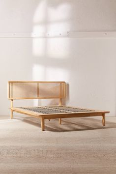 Shop Marte Platform Bed at Urban Outfitters today. We carry all the latest styles, colors and brands for you to choose from right here. Bedroom Sets, Home Bedroom, Bedroom Decor, Master Bedroom, Rattan Furniture, Outdoor Furniture, Outdoor Decor, Happy House, Modern Bedroom
