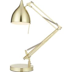 carpenter brass table lamp...maybe just buy a little old lamp and spray it gold? but which gold spray gives the best finish?
