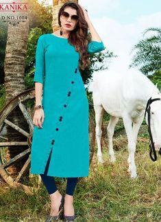 Simple Kurti Designs, New Kurti Designs, Salwar Designs, Kurta Designs Women, Kurti Designs Party Wear, Designs For Dresses, Blouse Designs, Kurti Sleeves Design, Kurta Neck Design