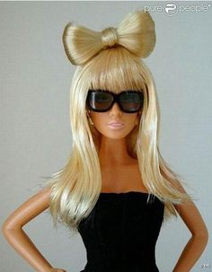 Barbie Lady Gaga....what in the world...I love this doll she is so pretty and love her hair...but I really DONT like Lady Gaga... me = !?!?!?!???!!