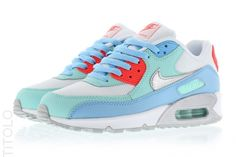 724855-100 White/Metallic Siver-Lakeside-Artisan Teal Nike Air Max 90 Mesh (GS)
