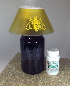Lisa Liza Lou Designs: Etched glass jug lamp