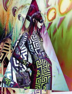 Kaleidoscopic - Molly Blair by Solve Sundsbo for Vogue Italia September 2015