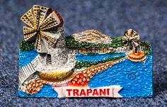 Resin Fridge Magnet: Italy. Sicily. Trapani