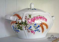 Hand painted soup tureen, www.muhuportselan.com