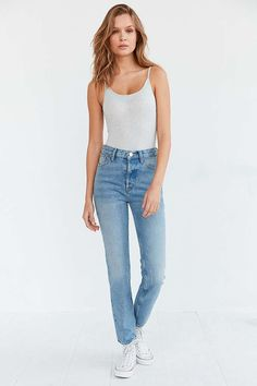 BDG Faye High-Rise Slim Straight Jean - Urban Outfitters